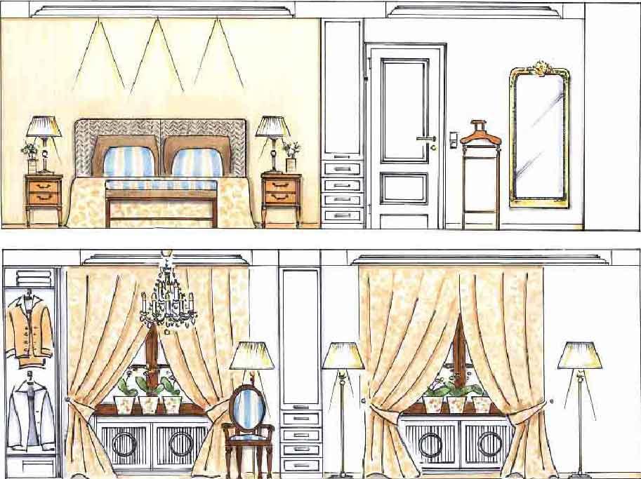 Schlafzimmer Entwurf Innenarchitekt