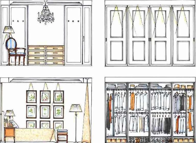 Planung Ankleide, Einbauschränke Schlafzimmer