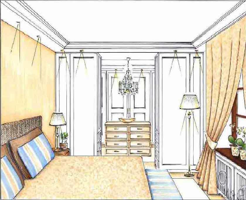 Innenarchitekt Planung Schlafzimmer Ankleide