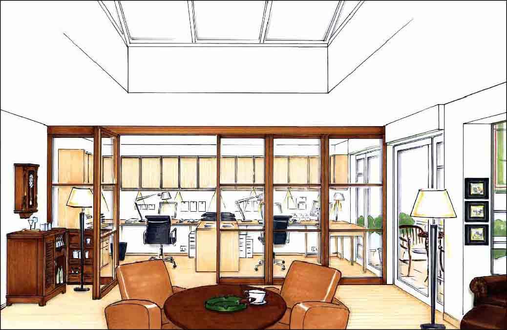 Arbeitszimmer-Innenarchitekt-Projekte