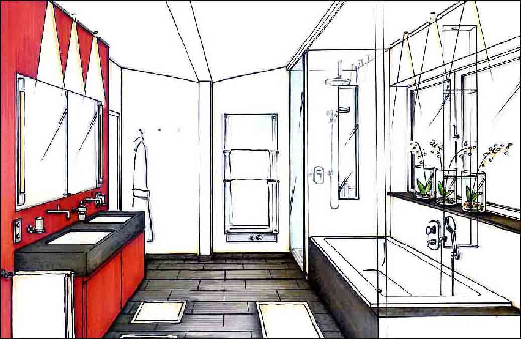 Badezimmer-Design-Innenarchitektur