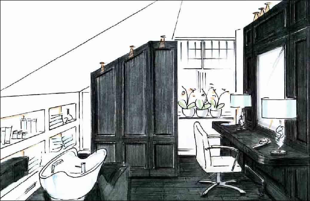 Badezimmer-Innenarchitekt-Projekt