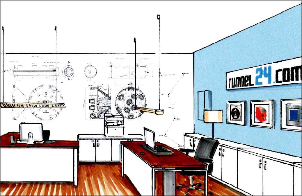 Büro-Agentur-Projekte-Innenarchitekt