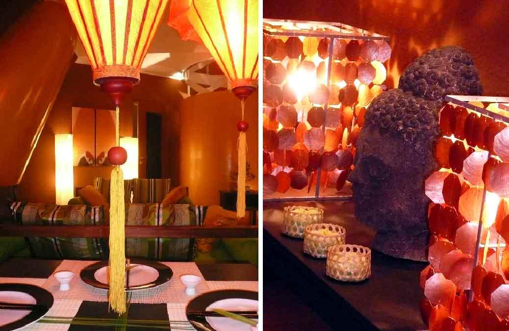 Dekoration-Innenarchitektur-Wohnzimmer-Asia