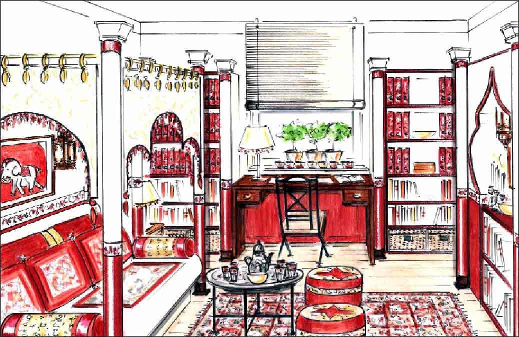 Innenarchitekt-Planung-orientalisch-Zimmer