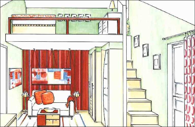 Kinderzimmer-Schlafgalerie-Planung