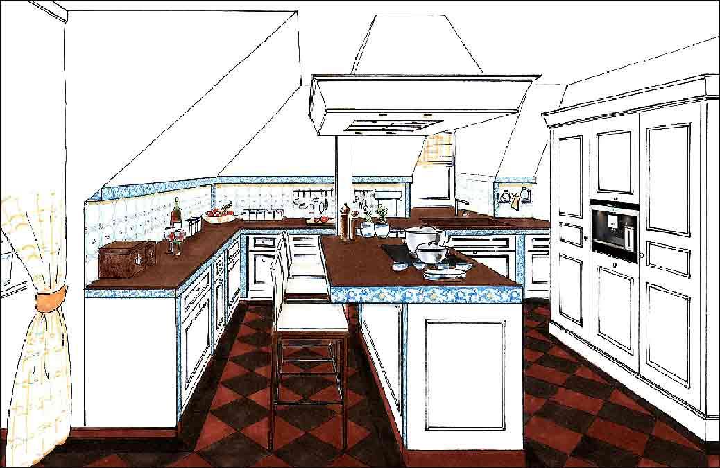 Küche-Planung-Entwurf-Innenarchitektur