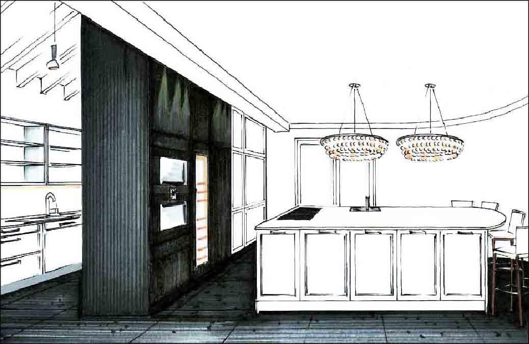 Küche-Entwurf-Innenarchitekt