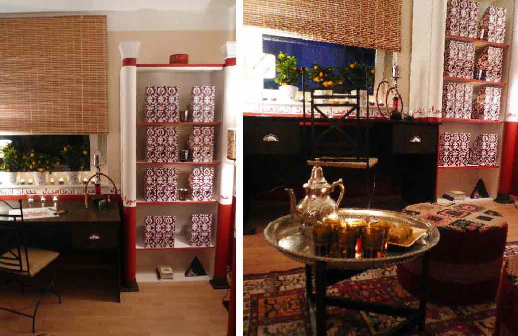 Orient-Zimmer-Innenarchitekt-Entwurf