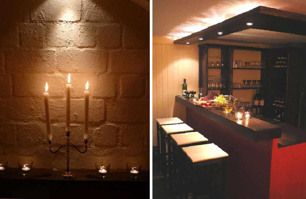 Partykeller-Innenarchitekt-Bar-Entwurf