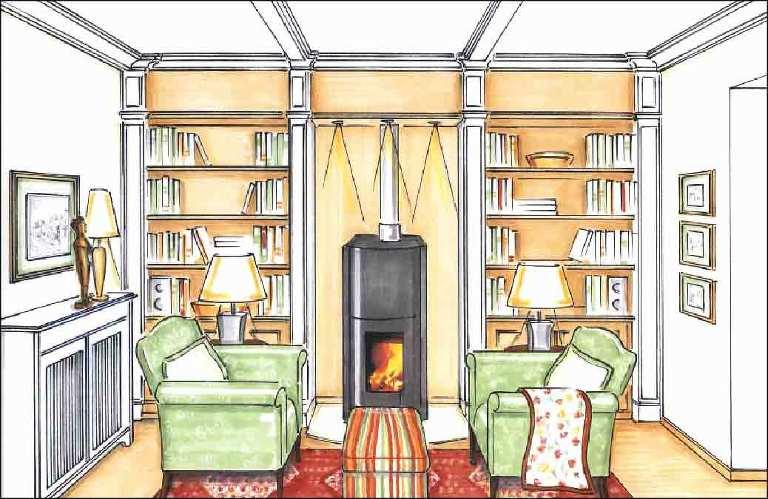 Projekte-Wohnzimmer-Kamin