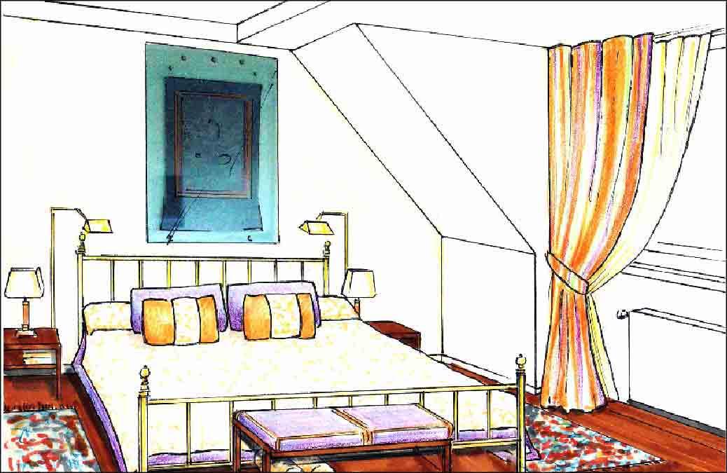 Referenzen-Schlafzimmer-Innenarchitekt