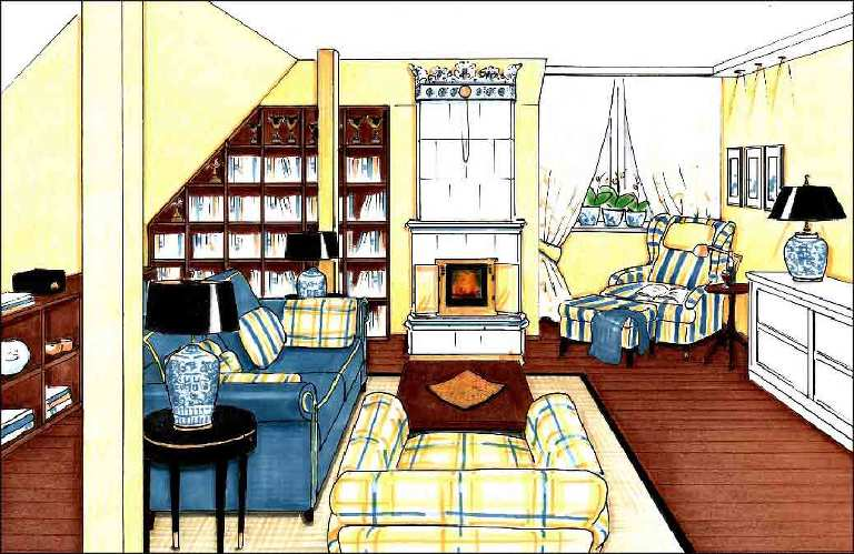 Wohnraum-Projekte-Innenarchitekt