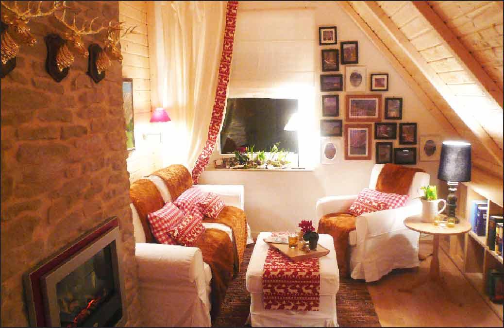 Wohnzimmer-Hüttenzauber-Stil