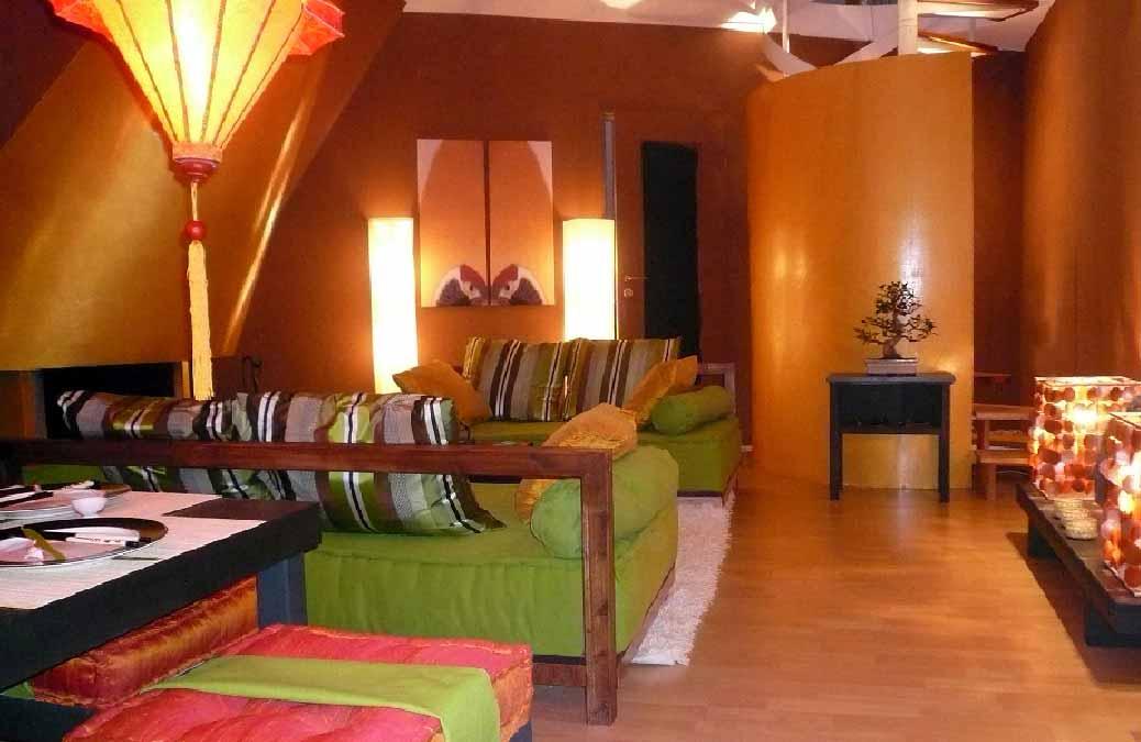 Wohnzimmer-Innenarchitekt-Asiastil
