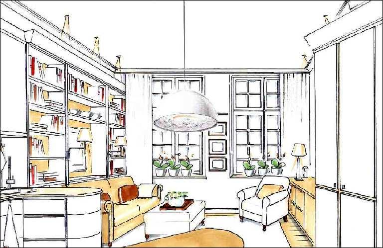 Wohnzimmer-Innenarchitekten-Projekte