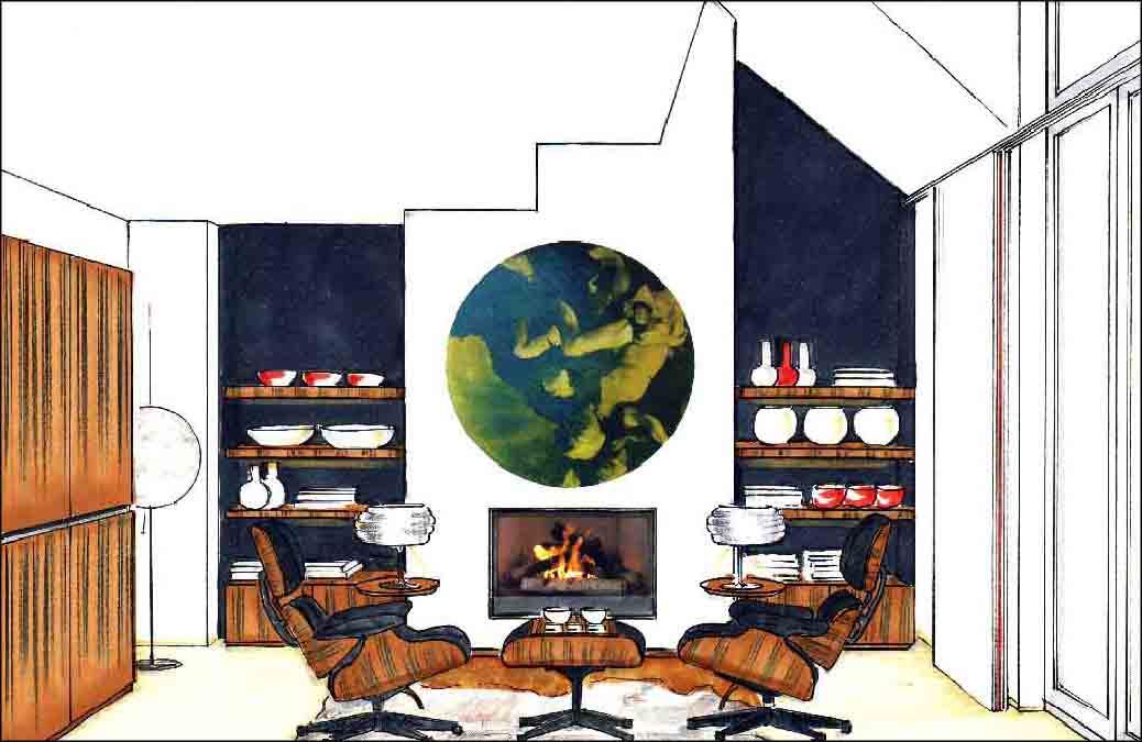 Wohnzimmer Projekte Innenarchitektur