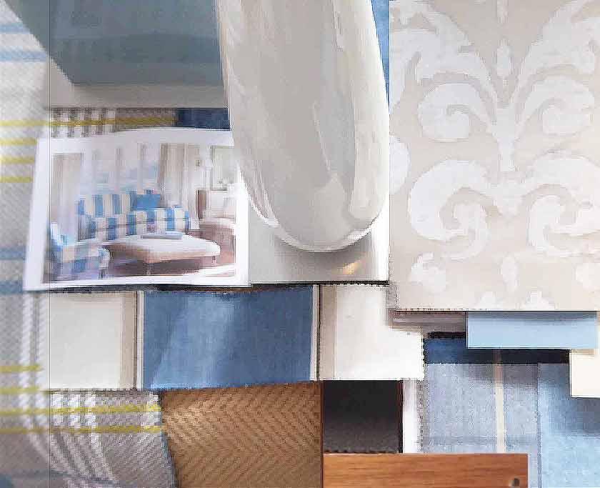 Innenarchitektur Planung: Gesamtkonzept mit Materialkollage